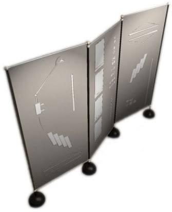 porte panneaux pour hall d'accueil