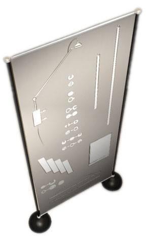 porte panneaux pour hall d'accueil ou musés