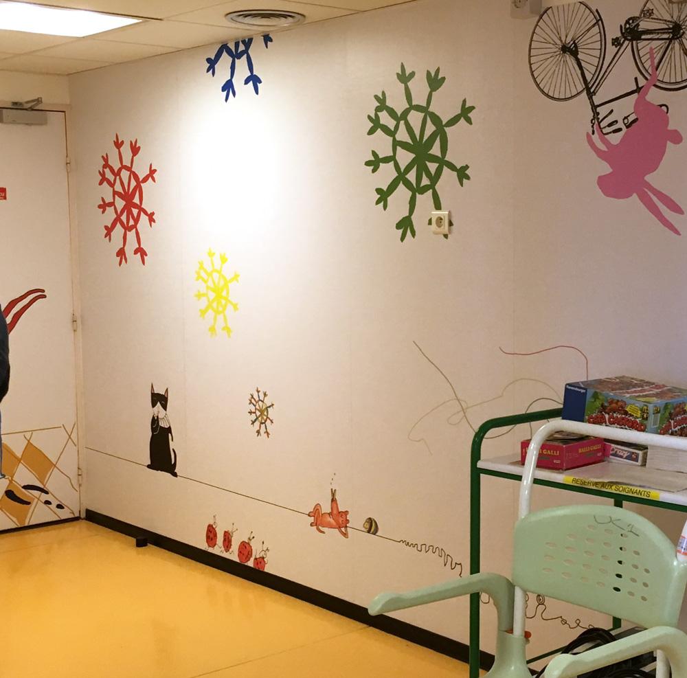 Stickers muraux pour les Hôpitaux