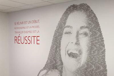 Habillage mur entreprise